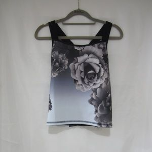 Ted Baker London XS Floral Tank Top Athleisure